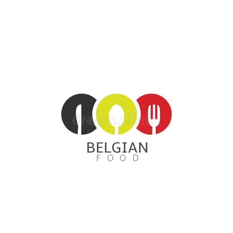 Ícone belga do alimento ilustração royalty free