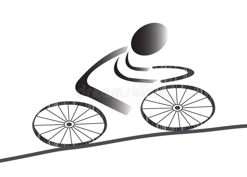Ícone Biking ilustração royalty free