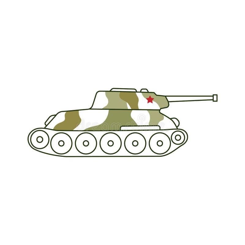 Ícone blindado 23 do tanque do vetor do feriado de fevereiro ilustração royalty free