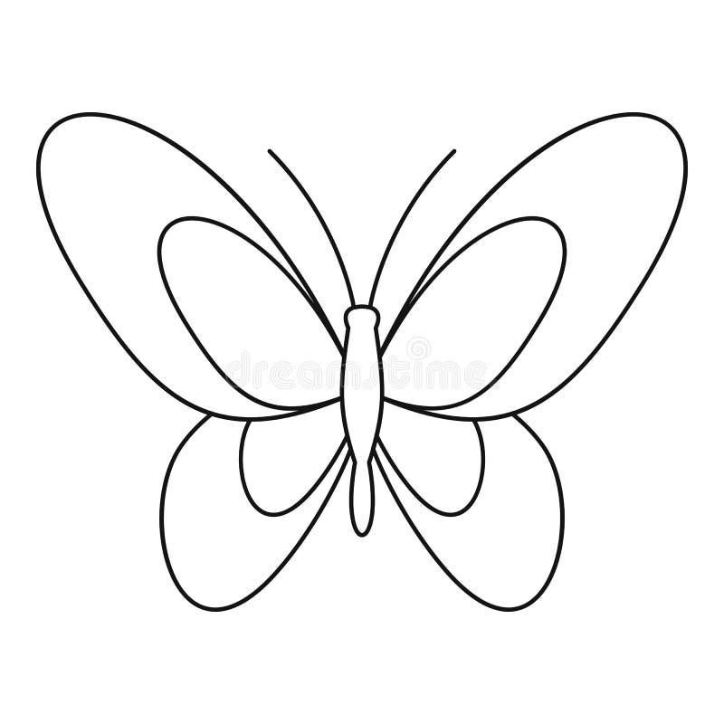 Ícone bonito da borboleta, estilo do esboço ilustração royalty free