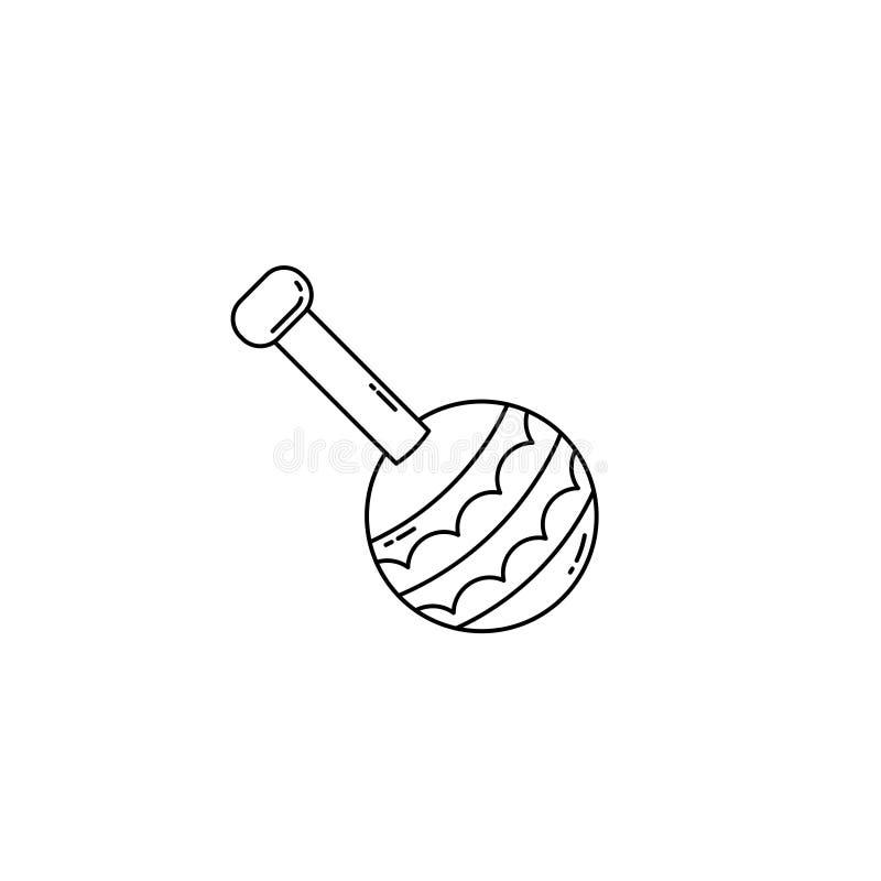Ícone bonito do bebê ajustado no estilo do monoline Linha Art Icon ilustração stock