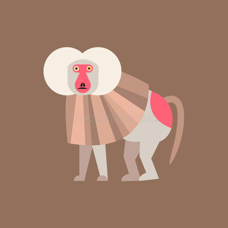 Ícone bonito do macaco, logotipo, símbolo Vetor ilustração stock