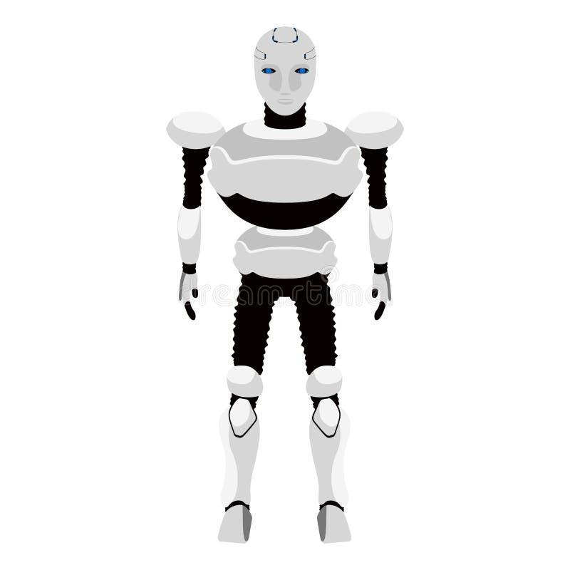 Ícone bonito isolado do androide ilustração stock