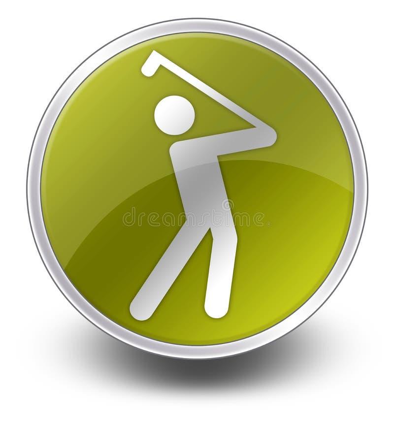 Ícone, botão, Golfing do pictograma ilustração royalty free