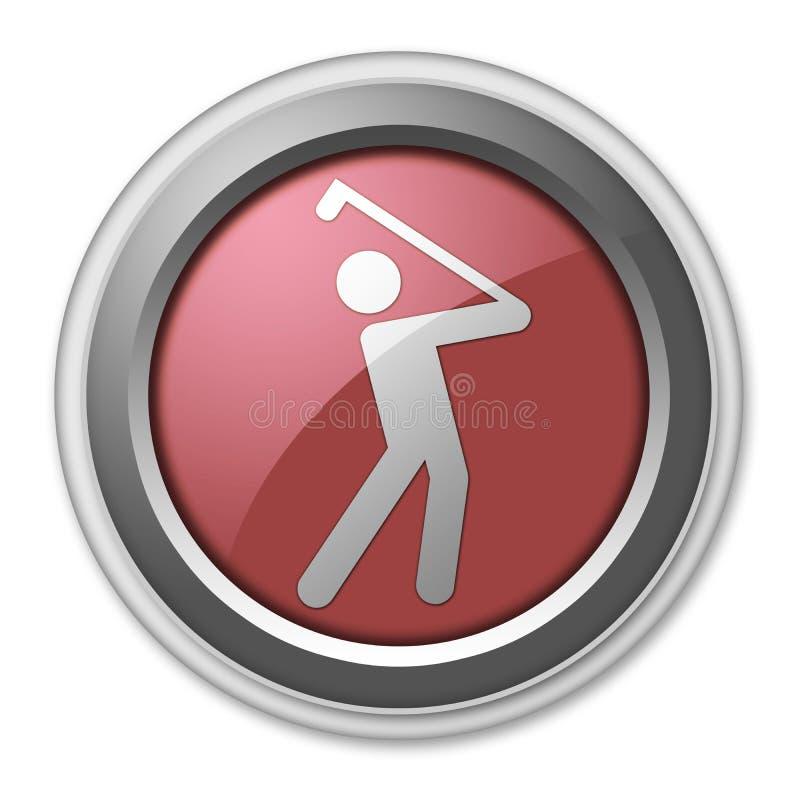 Ícone, botão, Golfing do pictograma ilustração do vetor
