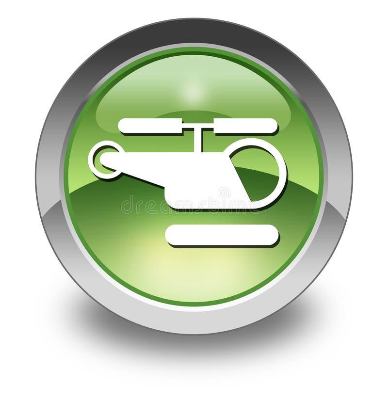 Ícone, botão, heliporto do pictograma ilustração royalty free