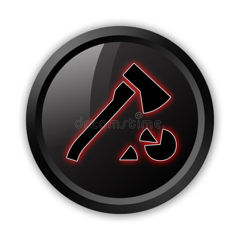 Ícone, botão, lenha do pictograma ilustração royalty free