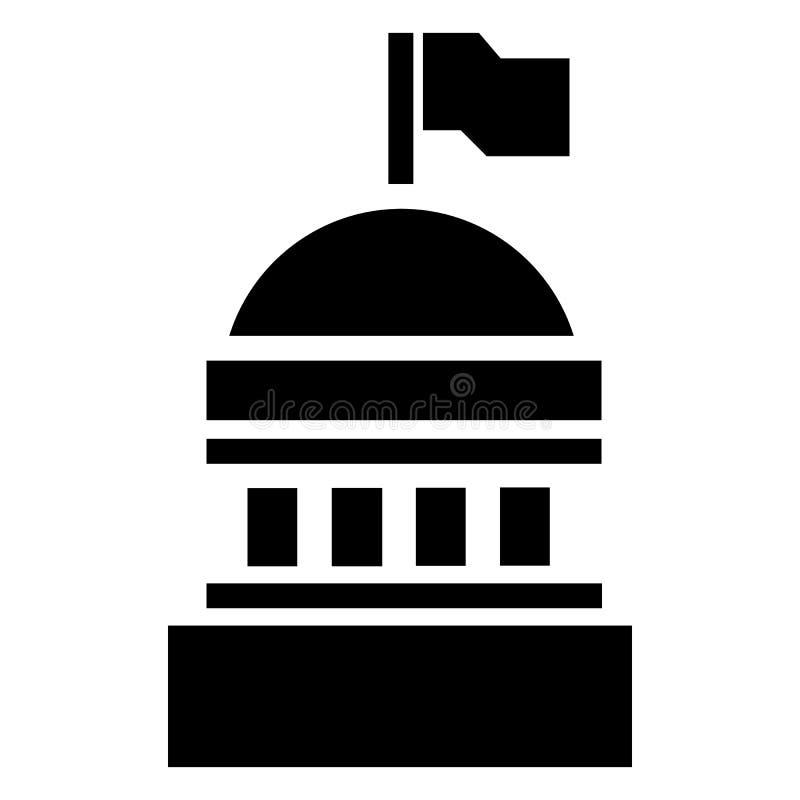 Ícone branco da casa, estilo simples ilustração stock