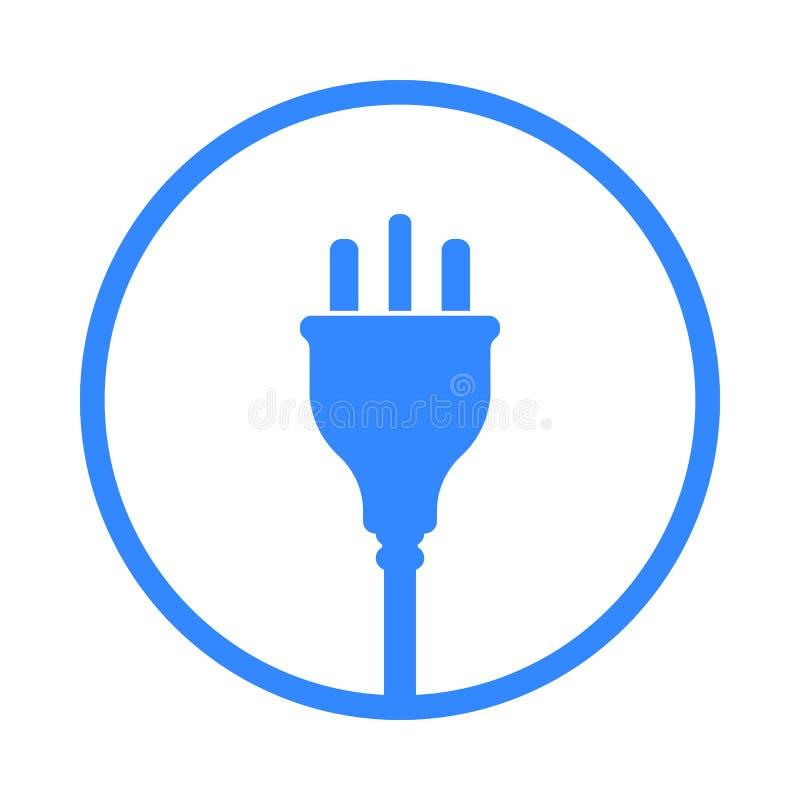 Ícone BRITÂNICO da tomada elétrica, símbolo Padrão de Reino Unido, Grâ Bretanha ilustração royalty free