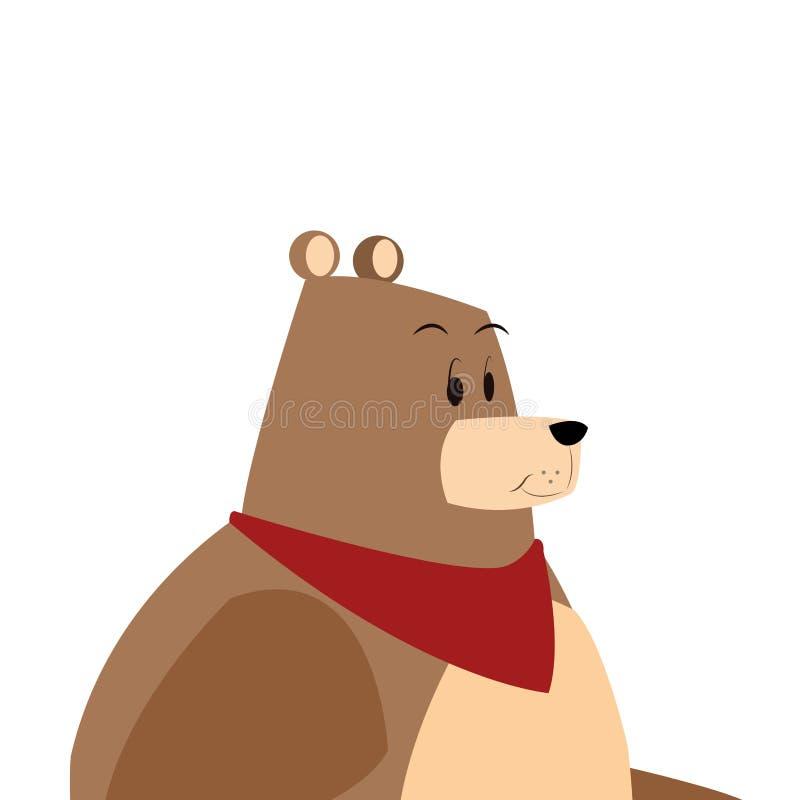 Ícone cômico dos desenhos animados dos desenhos animados do urso ilustração stock