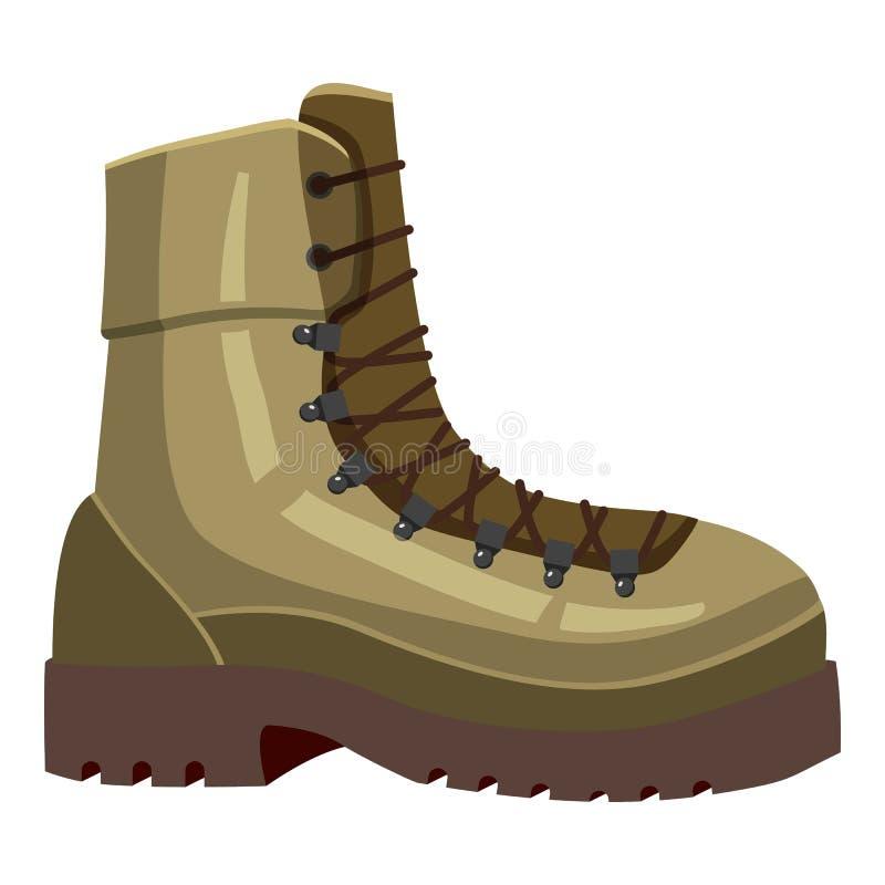 Ícone caqui da bota, estilo dos desenhos animados ilustração royalty free