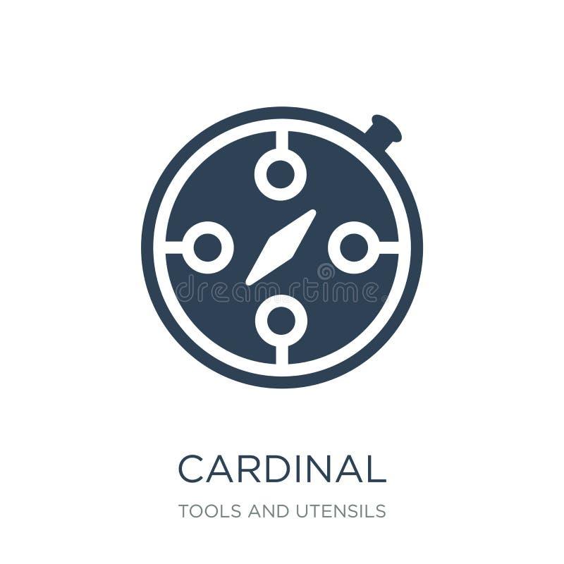 ícone cardinal no estilo na moda do projeto ícone cardinal isolado no fundo branco plano simples e moderno do ícone cardinal do v ilustração stock