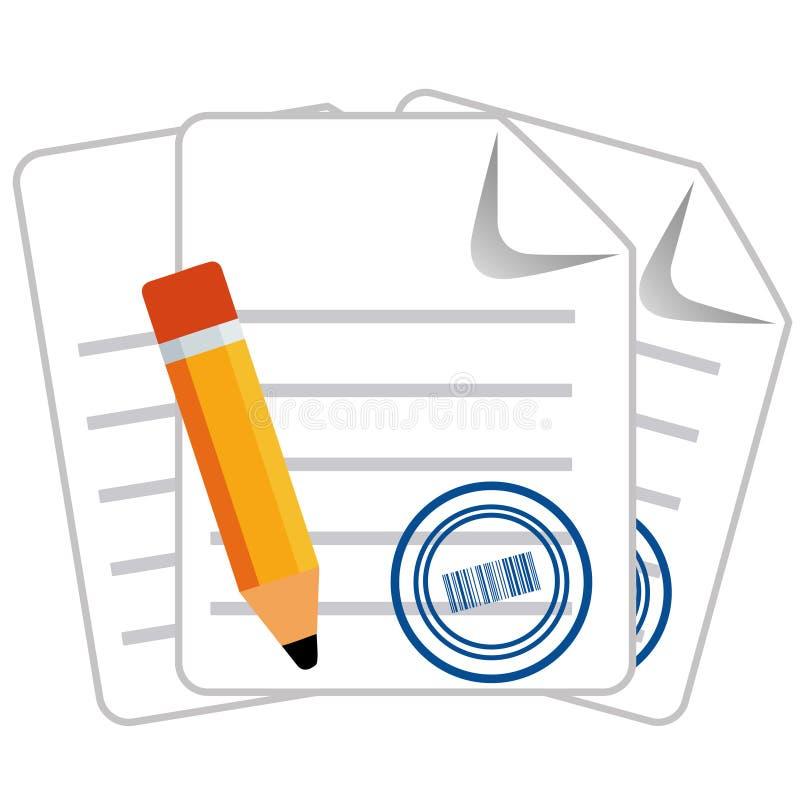 Ícone Cashless do pagamento ilustração do vetor