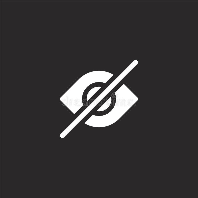 ícone cego Ícone cego preenchido para design de site e desenvolvimento de aplicativo móvel ícone cego da assistência a pessoas co ilustração stock