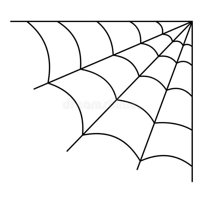 Ícone celular do spiderweb, estilo do esboço ilustração stock