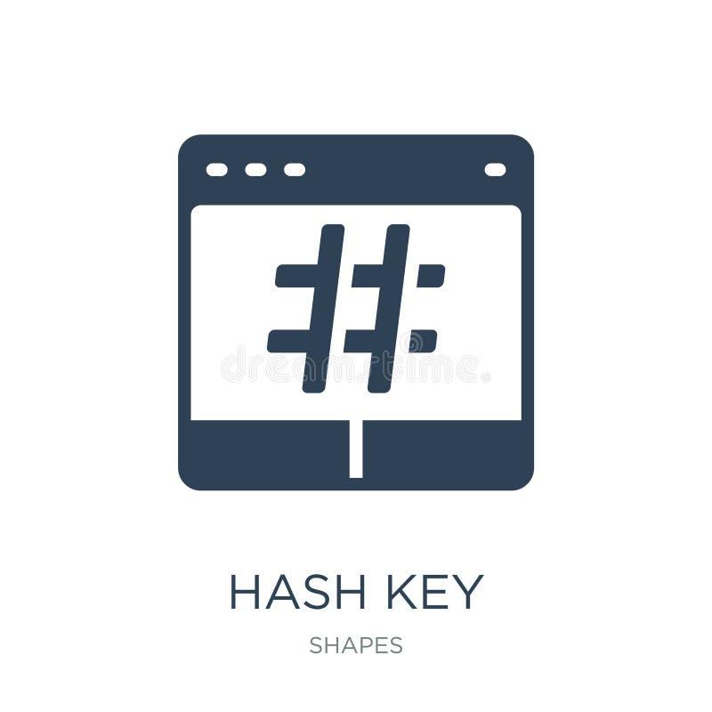 ícone chave da mistura no estilo na moda do projeto ícone chave da mistura isolado no fundo branco do ícone chave do vetor da mis ilustração do vetor