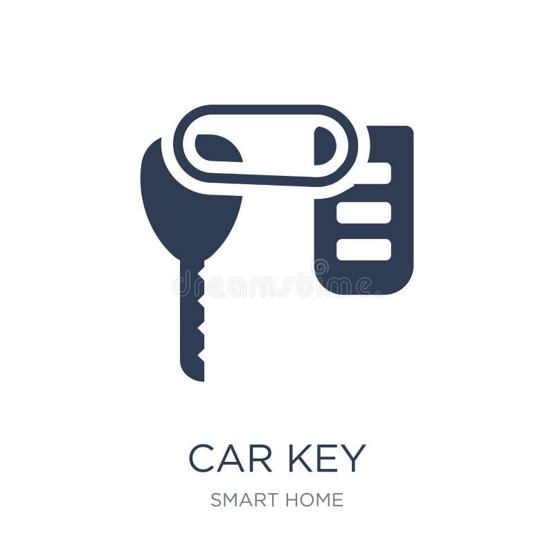 Ícone chave do carro  ilustração stock