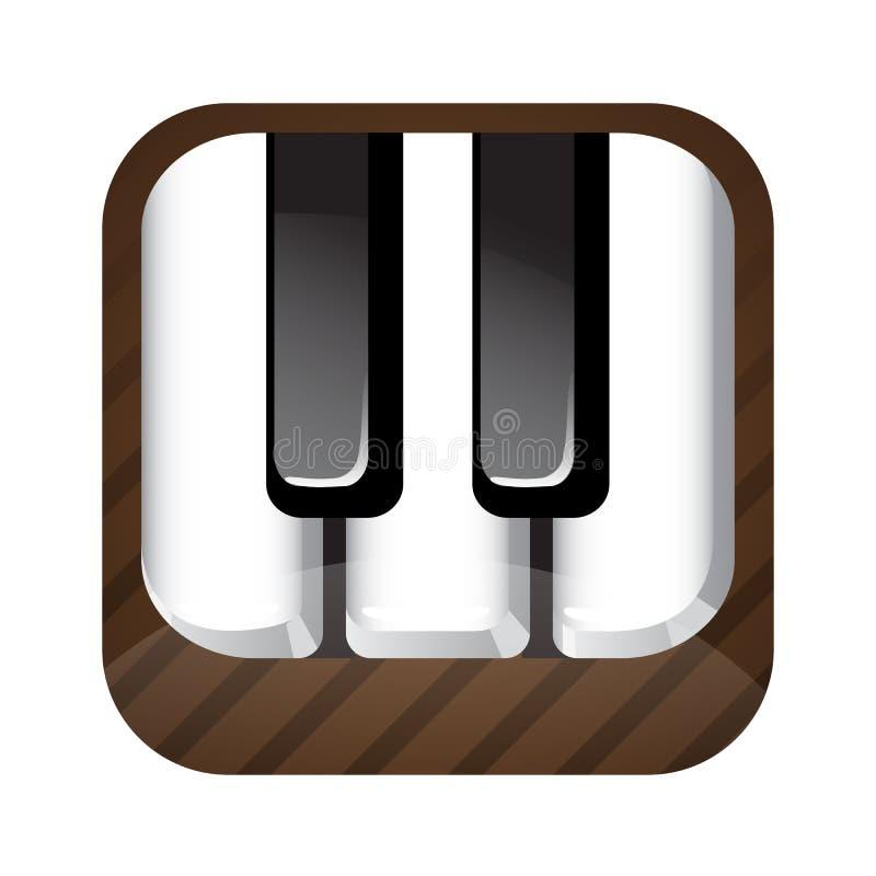 Ícone chave do piano ilustração royalty free