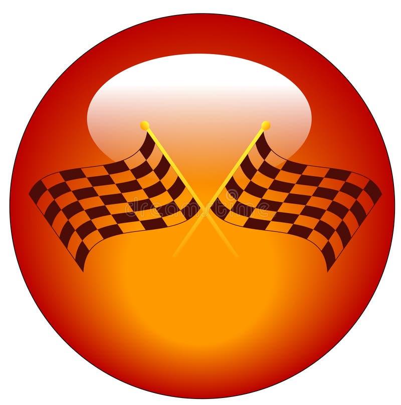Ícone Checkered da bandeira ilustração do vetor