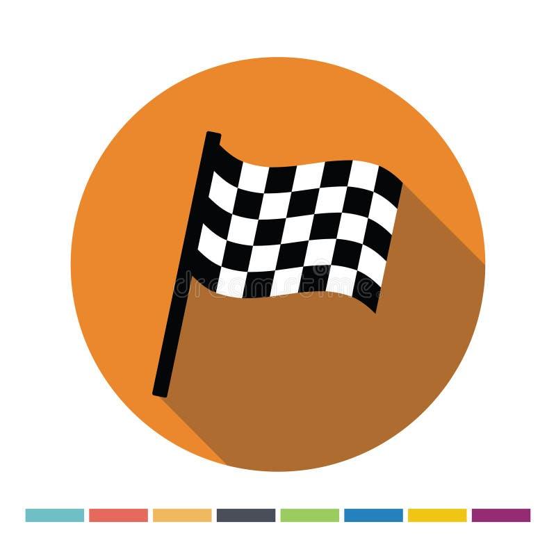 Ícone Chequered da bandeira ilustração stock