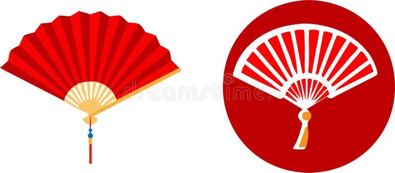 Ícone chinês da arquitetura no fundo branco ilustração do vetor