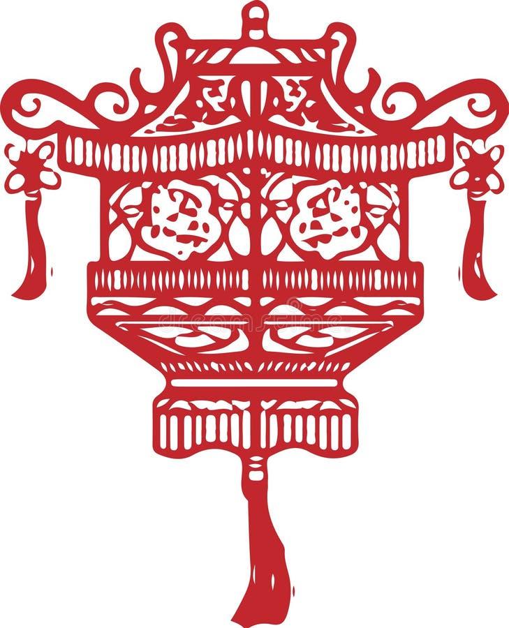 Ícone chinês da arquitetura no fundo branco ilustração royalty free