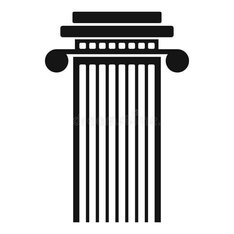 Ícone cilíndrico da coluna, estilo simples ilustração royalty free