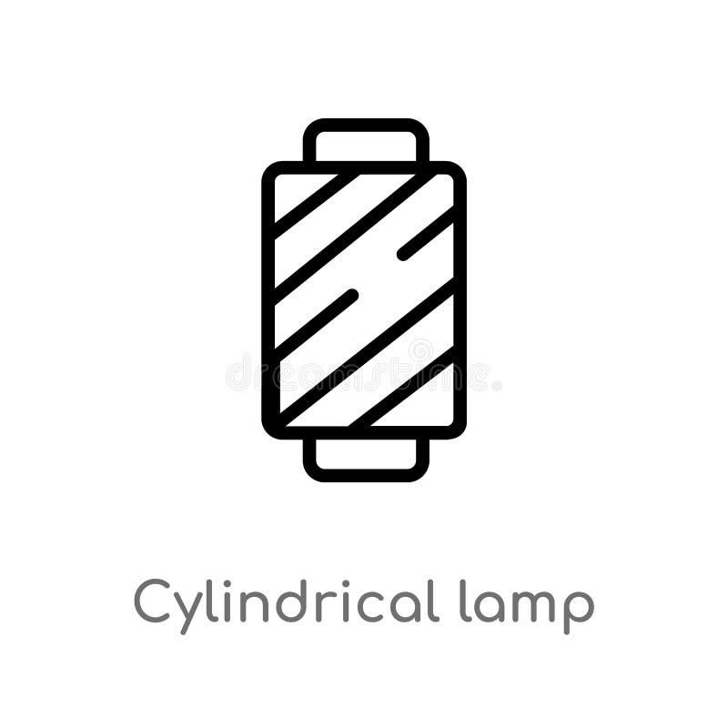 ícone cilíndrico do vetor da lâmpada do esboço linha simples preta isolada ilustração do elemento do conceito da roupa da mulher  ilustração royalty free