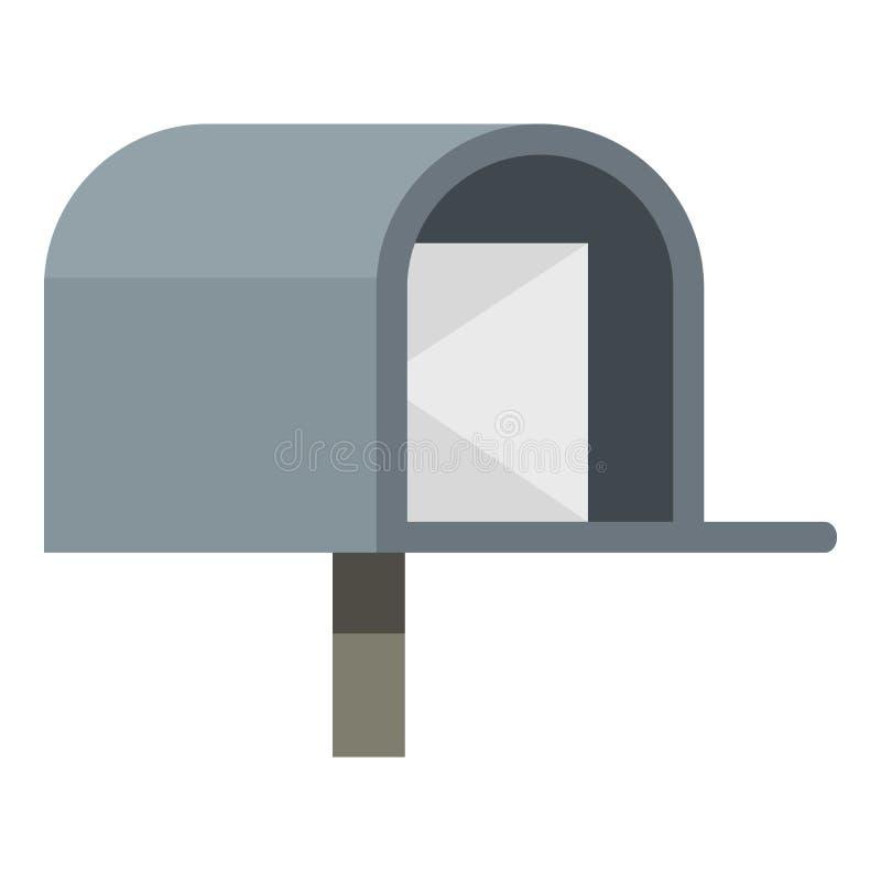 Ícone cinzento da caixa postal ilustração royalty free