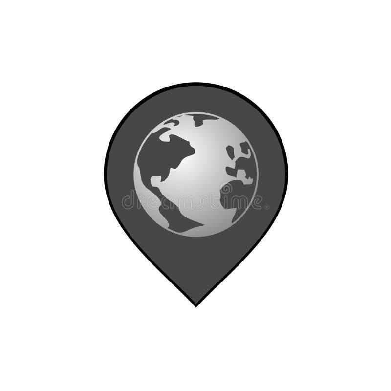 Download Ícone Cinzento Do Lugar Do Mundo Ilustração do Vetor - Ilustração de lugar, projeto: 80101080