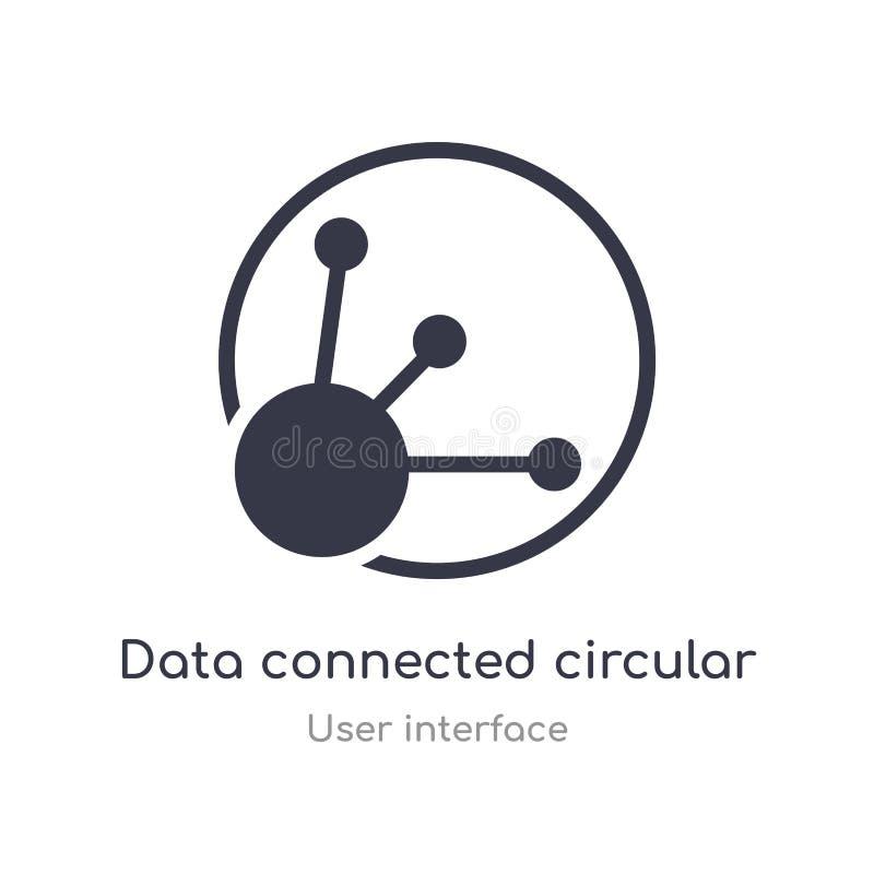 ícone circular conectado dados do esboço da relação linha isolada ilustra??o do vetor da cole??o da interface de usu?rio edit?vel ilustração do vetor