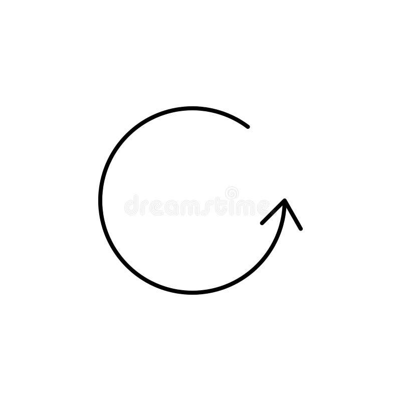 Ícone circular da seta Elemento do ícone simples para Web site, design web, app móvel, gráficos da informação Linha fina ícone pa ilustração royalty free