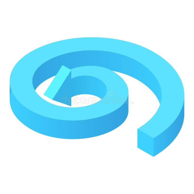 Ícone circular da seta, estilo dos desenhos animados ilustração stock