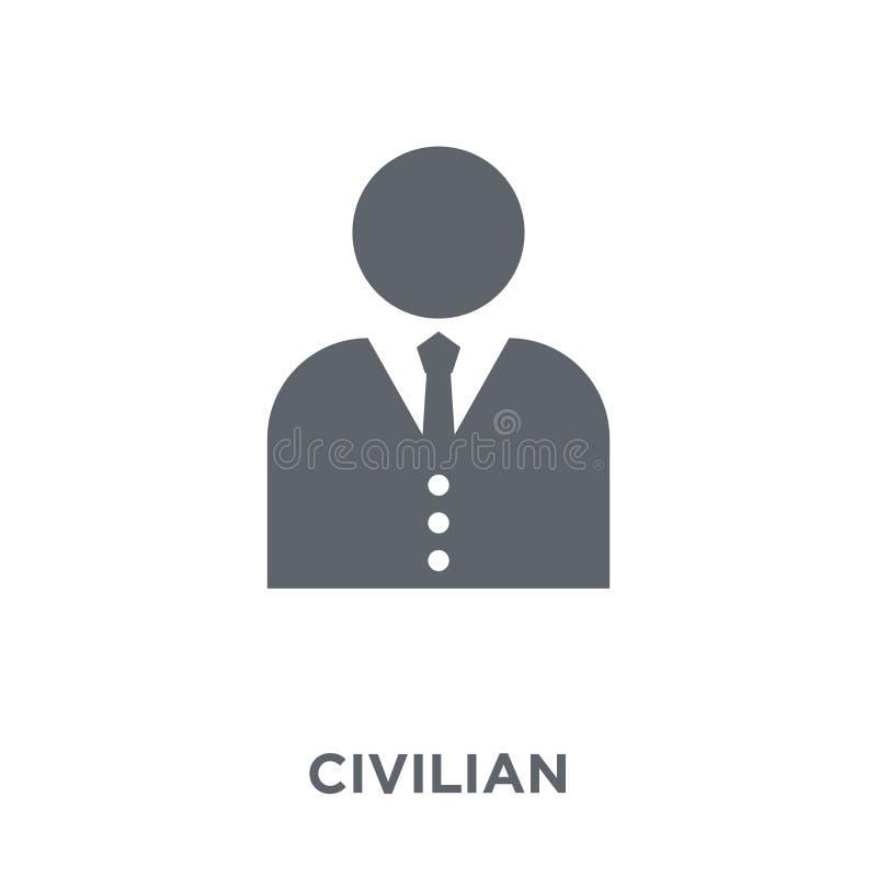 ícone civil da coleção do exército ilustração royalty free