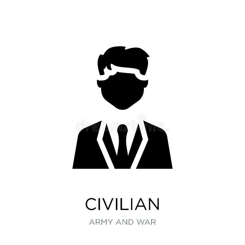 ícone civil no estilo na moda do projeto ícone civil isolado no fundo branco plano simples e moderno do ícone civil do vetor ilustração stock