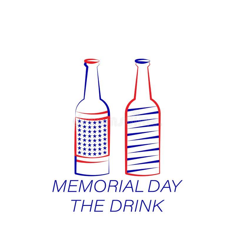 Ícone colorido bebida do Memorial Day Elemento do ícone da ilustração do Memorial Day r ilustração do vetor