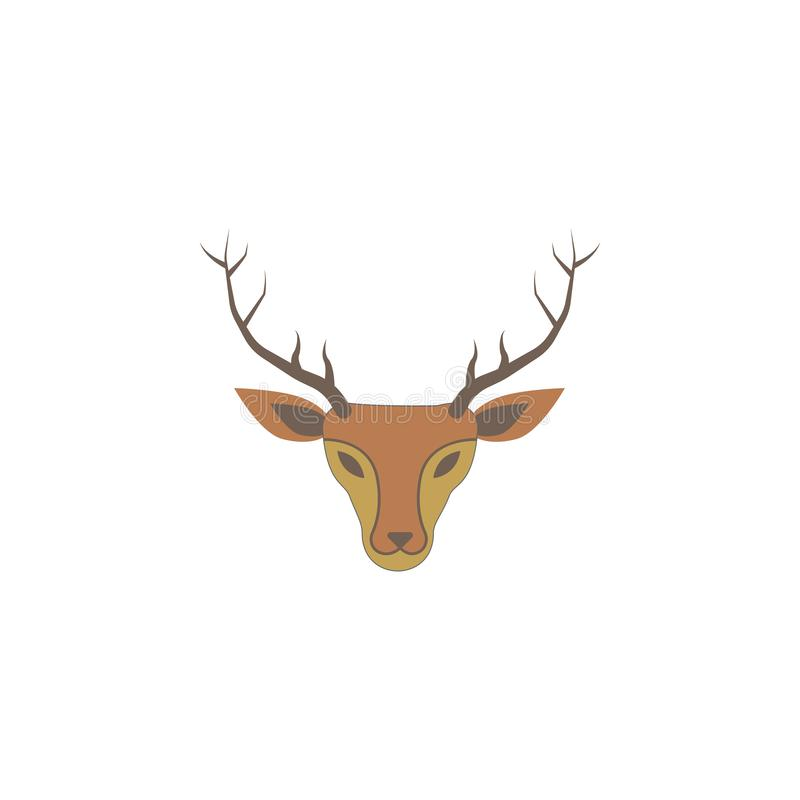 Ícone colorido cervos do Natal Elemento do ícone colorido feriado do Natal Ícone superior do projeto gráfico da qualidade Sinais  ilustração stock