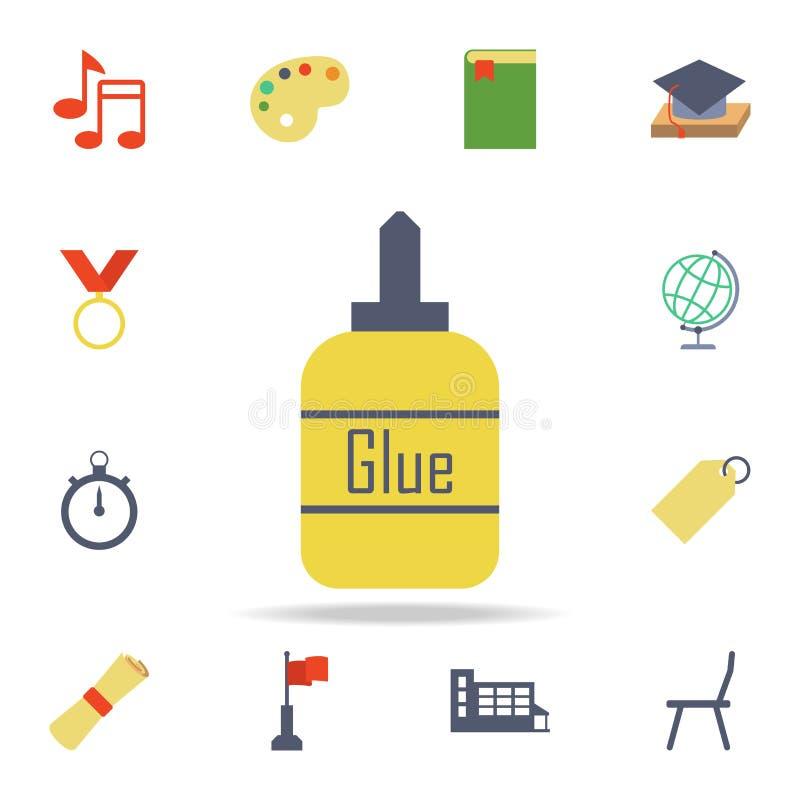 ícone colorido colagem Grupo detalhado de ícones coloridos da educação Projeto gráfico superior Um dos ícones da coleção para Web ilustração stock