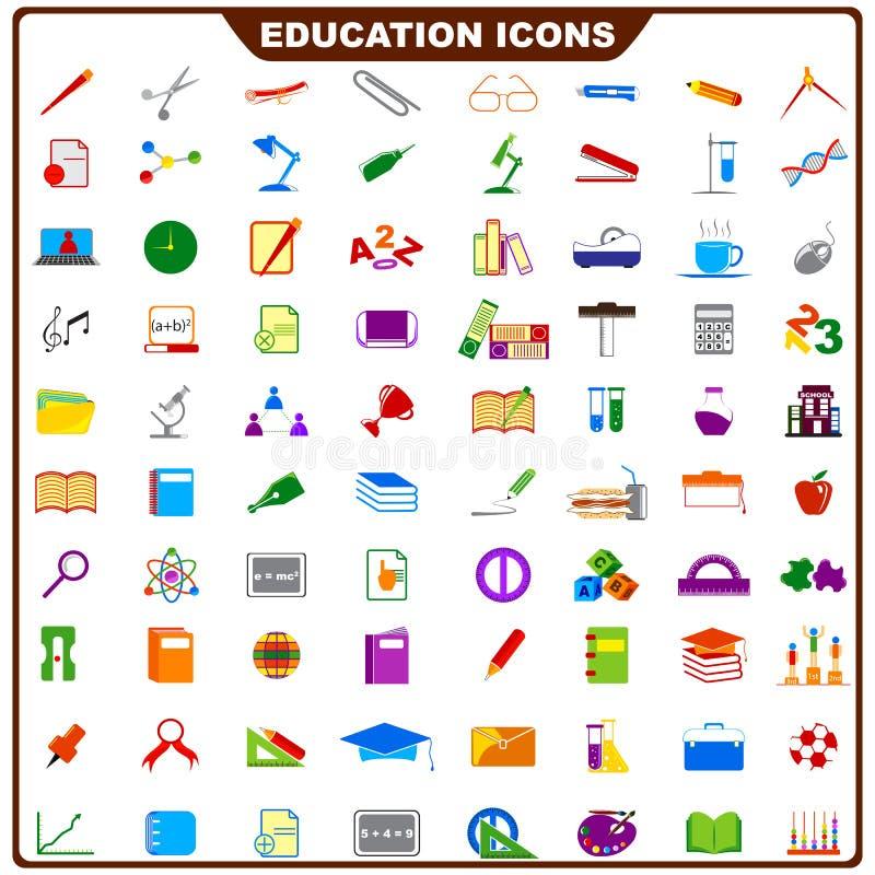 Ícone colorido da educação ilustração stock