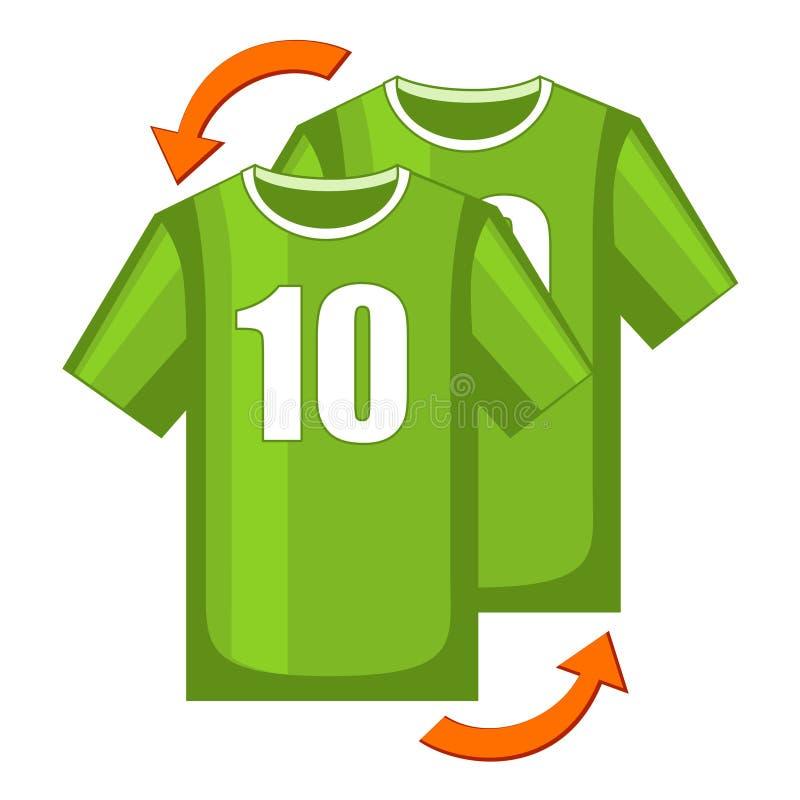 Ícone colorido da substituição do jogador de futebol dos desenhos animados ilustração stock
