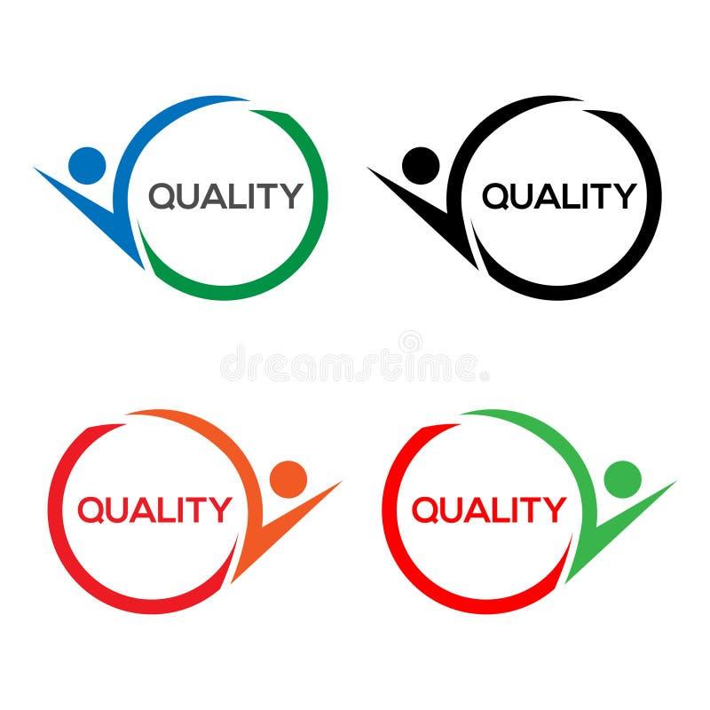 Ícone colorido do estoque de qualidade, projeto liso ilustração do vetor