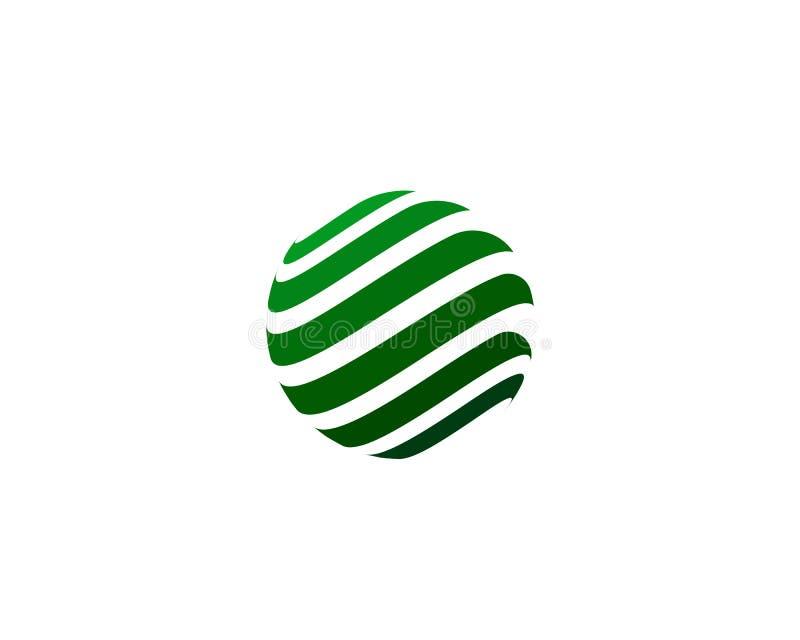 Ícone colorido do logotipo do mundo do fio ilustração stock