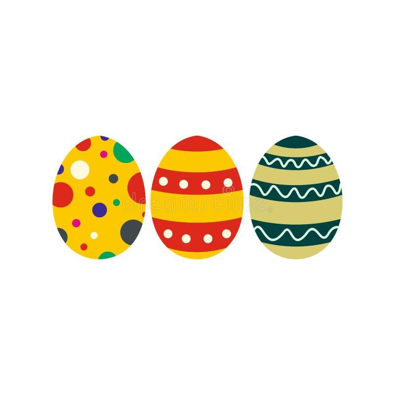 Ícone colorido dos ovos da páscoa ilustração do vetor