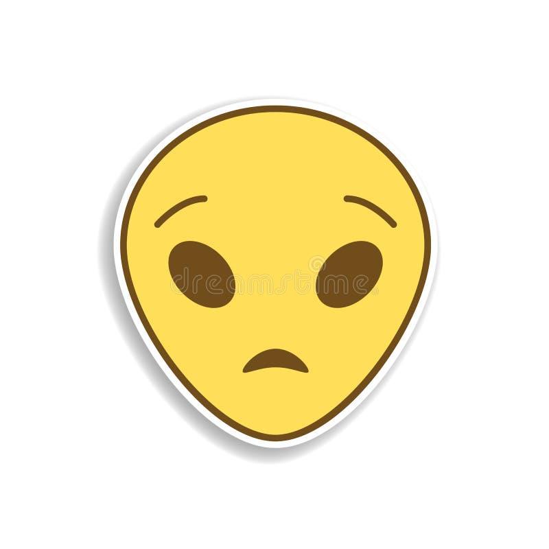 ícone colorido extraterrestre surpreendido da etiqueta do emoji Elemento do emoji para a ilustração móvel dos apps do conceito e  ilustração royalty free