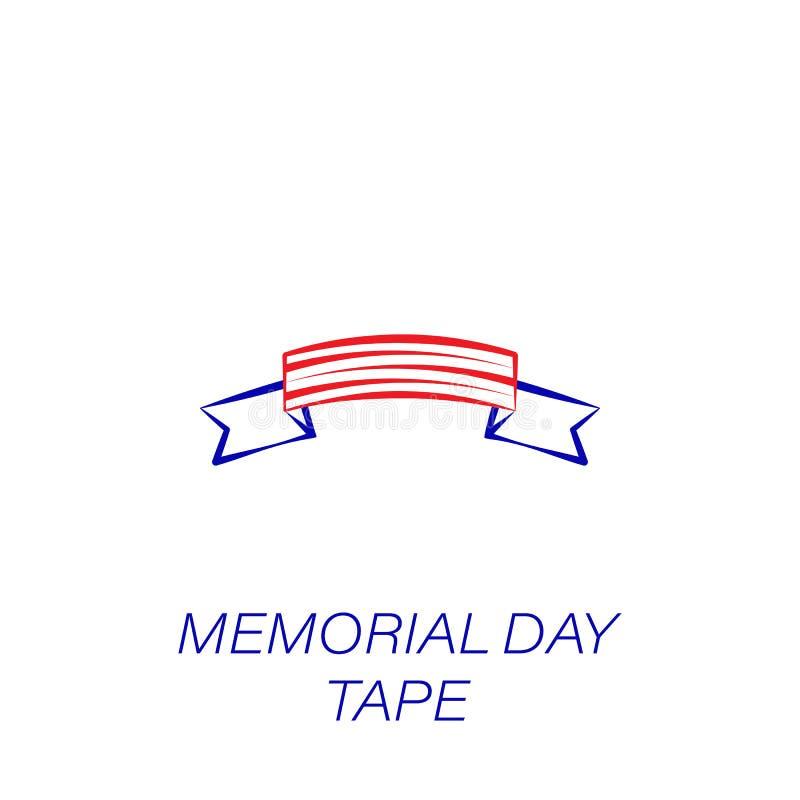 Ícone colorido fita do Memorial Day Elemento do ícone da ilustração do Memorial Day r ilustração royalty free