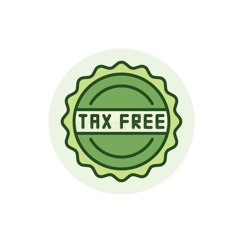 Ícone colorido isento de impostos ilustração royalty free