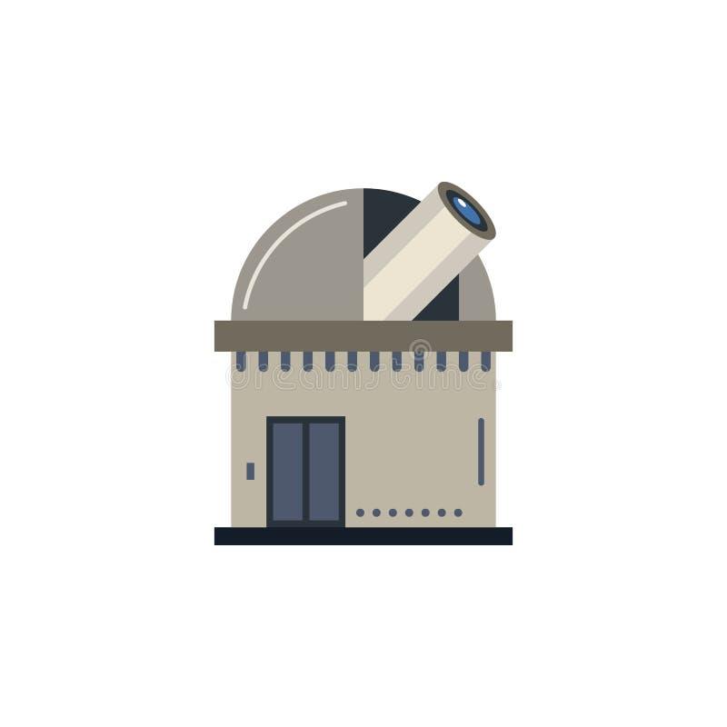 Ícone colorido obervatório Elemento da ilustração do espaço Os sinais e o ícone dos símbolos podem ser usados para a Web, logotip ilustração stock