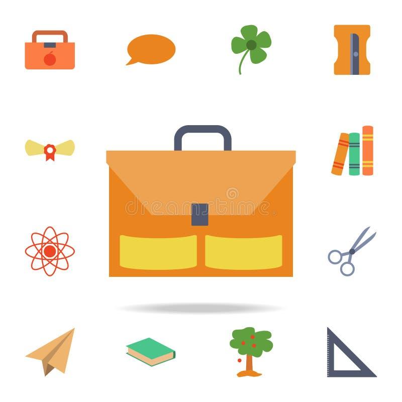 ícone colorido pasta Grupo detalhado de ícones coloridos da educação Projeto gráfico superior Um dos ícones da coleção para Web s ilustração do vetor