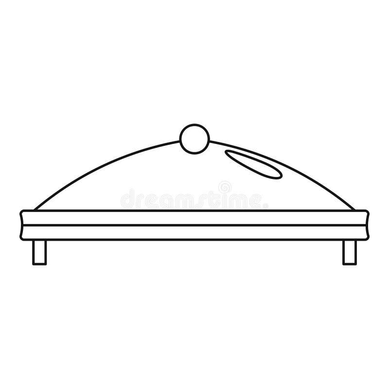 Ícone comercial da barraca, estilo do esboço ilustração royalty free