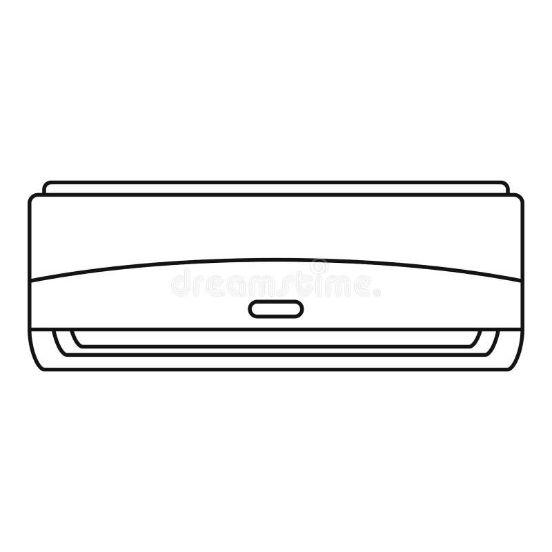 Ícone comercial do condicionador, estilo do esboço ilustração stock
